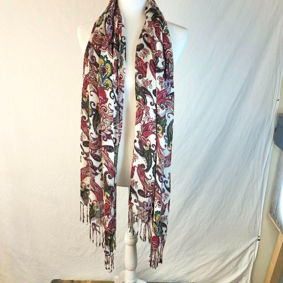 WARRIOR CLOTHING PAISLEY SCARF Brand New